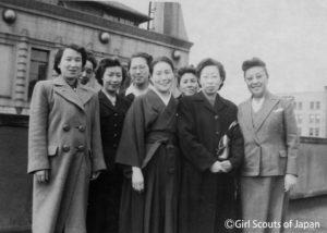 1949年復活したガールスカウト